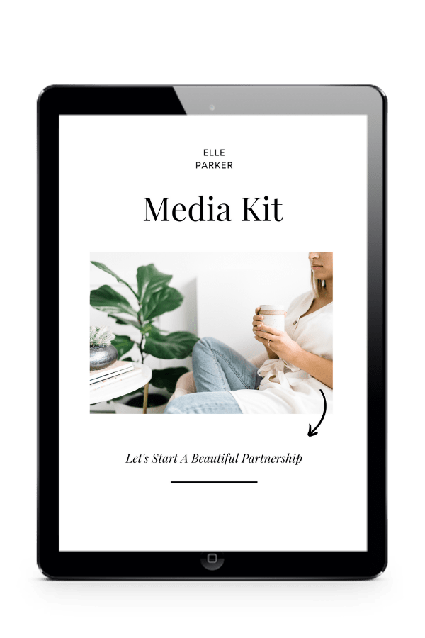 best customizable media kit template bloggers