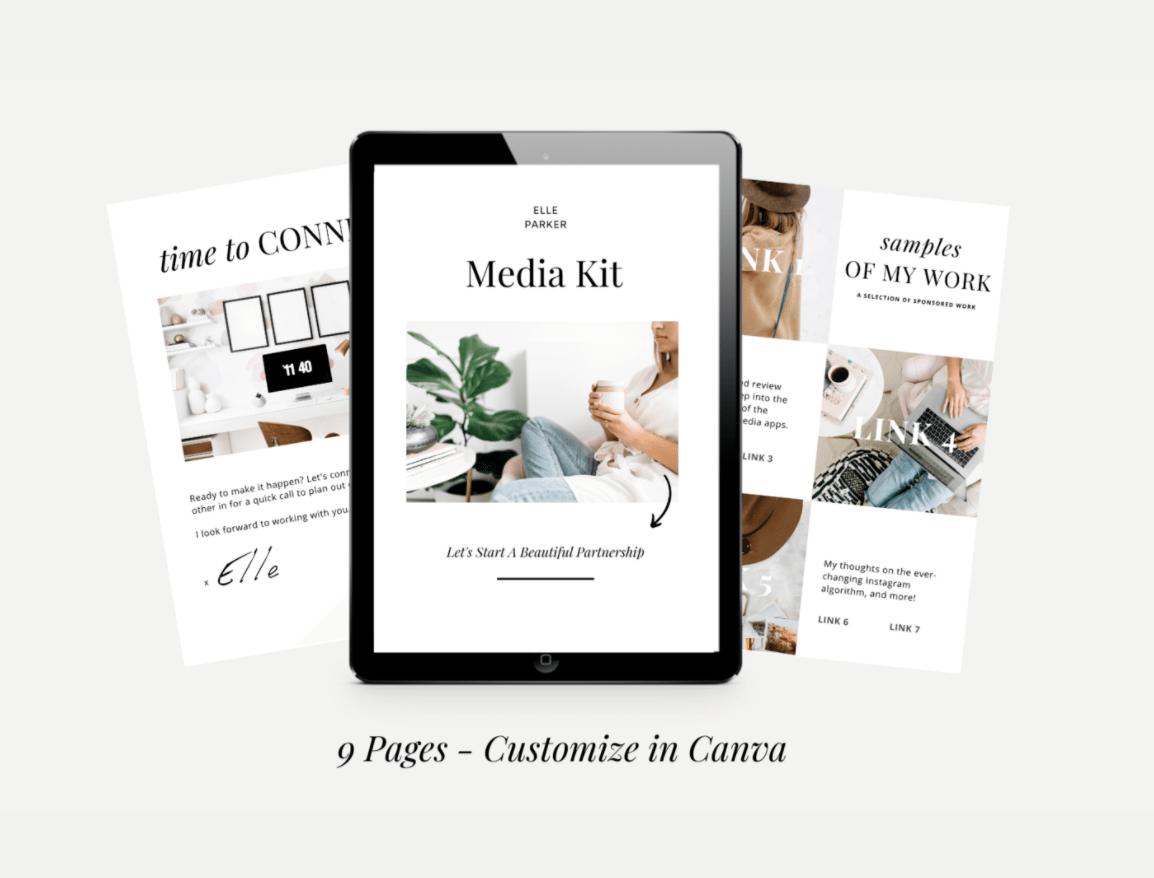 free customizable media kit templates