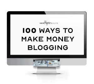 100 ways to mak emoney blogging course herpaperroute chelsea clarke