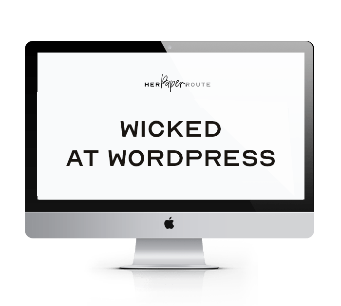 Wicked at WordPress course