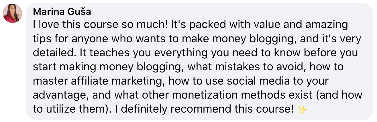 blog monetization course love