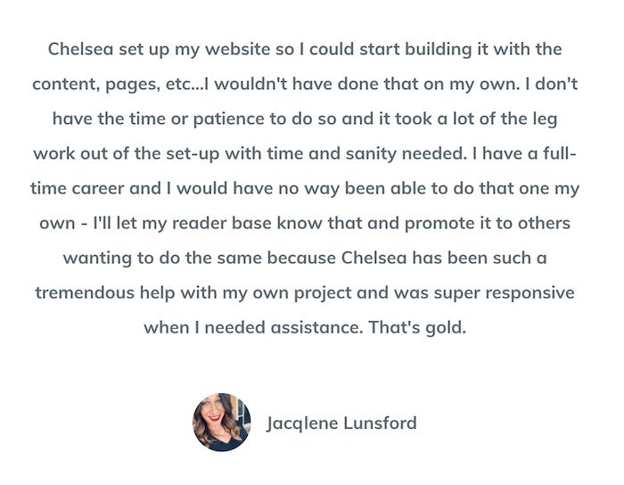 website in a box testimonial