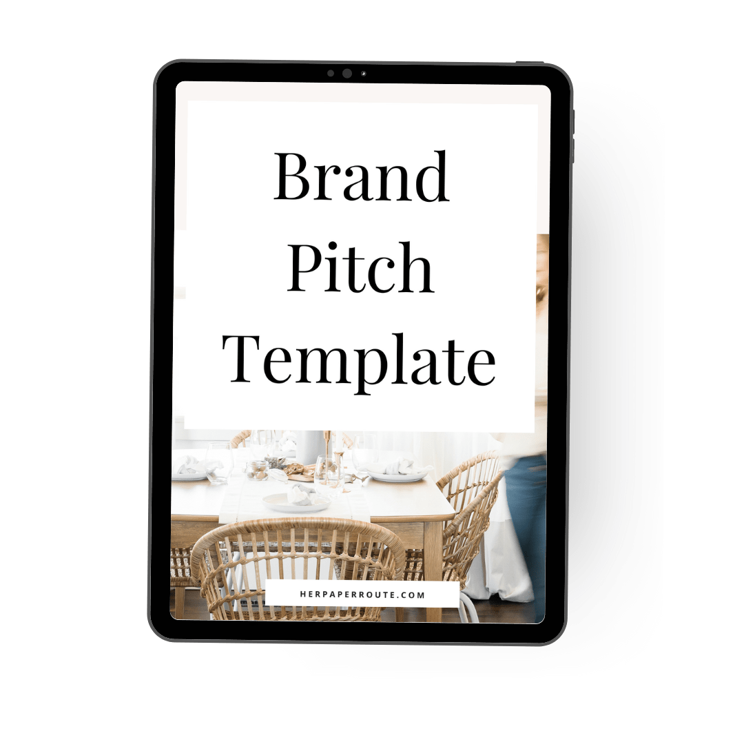 Brand Pitch Template micro-influencer_