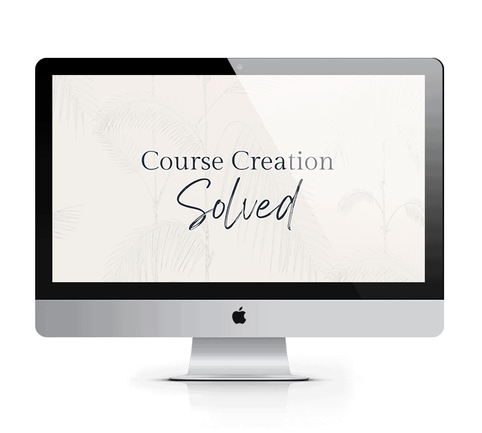 course creation solved