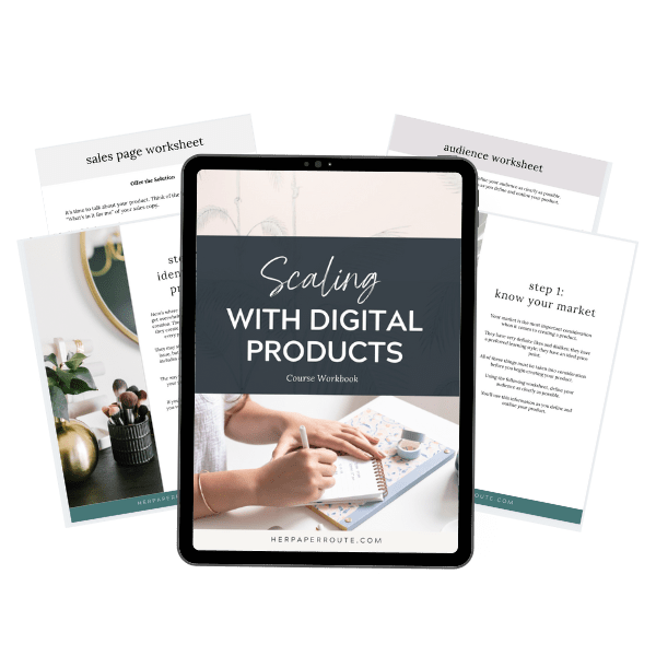 scaling with digital products workbook