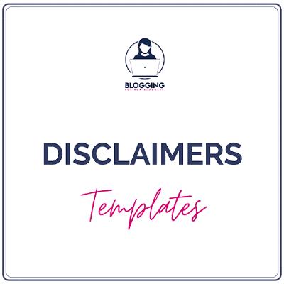 Disclaimers Templates - Lucrezia Iapichino